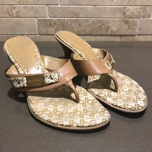 BCBG thong heel sandals